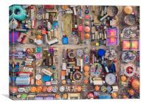 Bird's-Eye View of Hull Fair, Canvas Print
