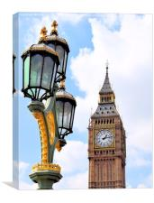Big Ben With Lamp, Canvas Print