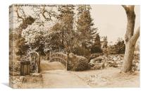 Swansea Botanical Gardens, Canvas Print