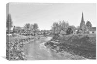 Village of Kidwelly, Canvas Print