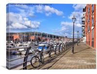 Swansea Marina, Canvas Print