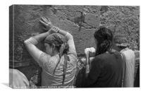 Woman pray at the western Wall (Kotel) Jerusalem, , Canvas Print