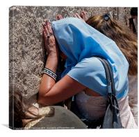 "Woman pray at the western Wall A.K.A  ""Kotel"" or "", Canvas Print"