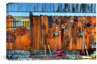 Antique shop wall