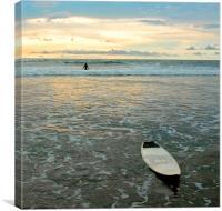 Playa Tamarindo, Costa Rica,  Surf and Sunset, Canvas Print