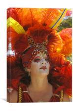 Summer Solstice Performer, Santa Barbara, Canvas Print