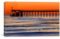 Bacara Pier, Goleta , California, Canvas Print
