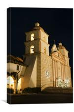 Santa Barbara Mission, Canvas Print
