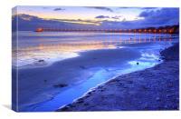 Bacara (Haskell's ) Beach and pier, Santa Barbara, Canvas Print