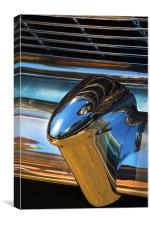 1954 Chevrolet chrome bumper and radiator grill., Canvas Print