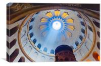 Jerusalem: The Church of the Holy Sepulcher dome., Canvas Print