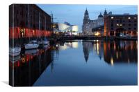 Liverpool Docks At Dusk, Canvas Print