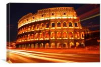 Rome Colosseum At Night, Canvas Print