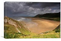 Rhoselli Beach, South Wales, Canvas Print