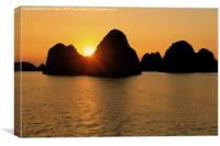 Sunset over Ha Long Bay, Canvas Print
