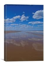 Reflections in the sand, Canvas Print
