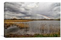 Rainbow over the water, Canvas Print