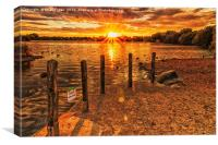 Sunset over Attenborough, Canvas Print