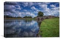 Kedleston Bridge, Canvas Print