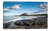 Sea and Sky, Bamburgh Castle, Canvas Print