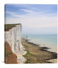 Beachy Head and the Lighthouse , Canvas Print