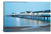 Southwold Pier at Night, Canvas Print