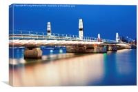 The Twin Sails Bridge, Canvas Print