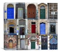 Bristol Doorways, Canvas Print