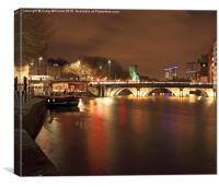 Old Bridge at Night, Canvas Print