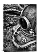 Diving Helmet, Canvas Print