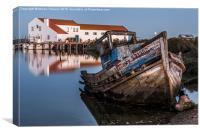 Abandoned Fishing Boat I, Canvas Print