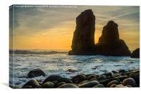 Sunset At Cape Roca I, Canvas Print