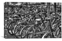 Bikes, Canvas Print
