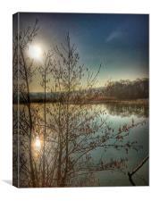 Reflections at sunrise, Canvas Print