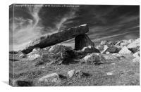 Coetan Arthur dolmen, Canvas Print