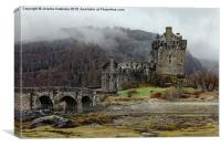 Eilean Donan Castle in misty morning, Canvas Print