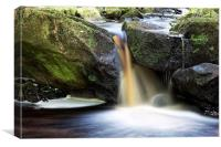 Small waterfall, Canvas Print