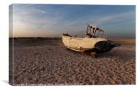 Old abandoned fishing boat, Canvas Print