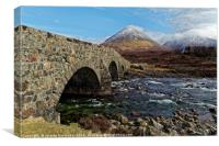 Sligachan bridge, Canvas Print