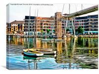 Britannia Bridge, Royal Docks, London, Canvas Print