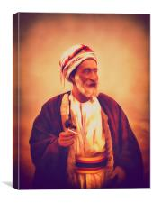 A Sheik From A Palestine Viillage, Canvas Print