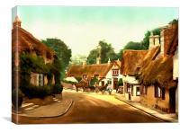 Old Shanklin Village I.o.W. c.1890, Canvas Print