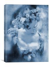 Mayday Buxom cyanotype, Canvas Print