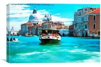 Vaporetto Grand Canal Venice, Canvas Print