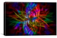 Twirling Swirling Plaid, Canvas Print