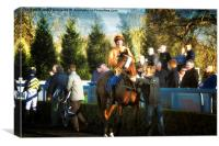 Pre-race - the Parade Ring at Lingfield, Canvas Print
