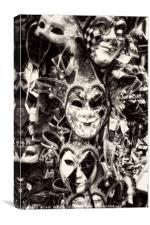 Masks masks masks!, Canvas Print