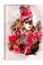 Venetian Beauty in Red I, Canvas Print