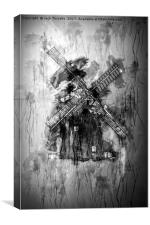Thaxted Mill Grunge I, Canvas Print