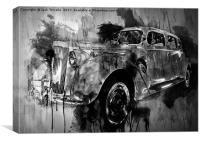 Vintage Car Grunge II, Canvas Print